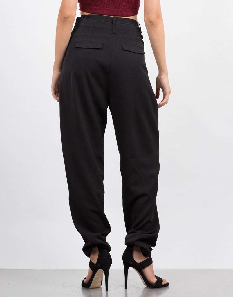 High Waisted Straight Leg Pants - 2020AVE