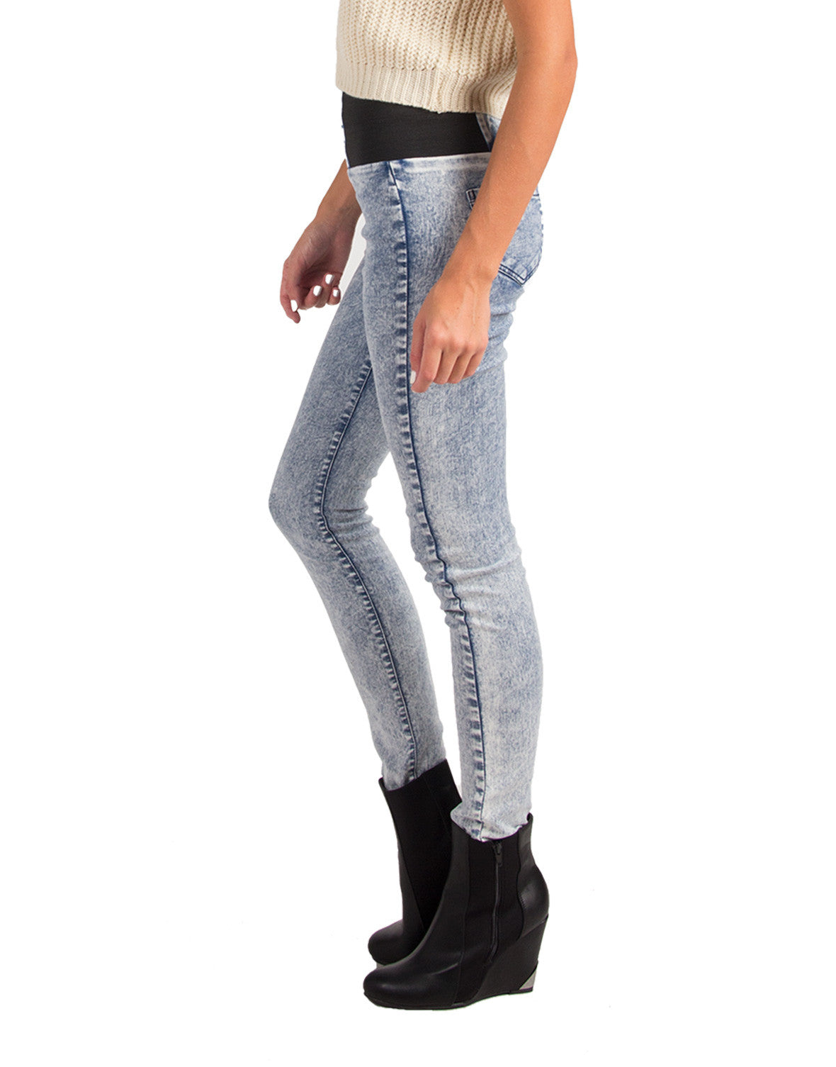 High Waisted Stretchy Denim Jeggings - 2020AVE