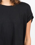Detail of Hi-Low Cropped Tee