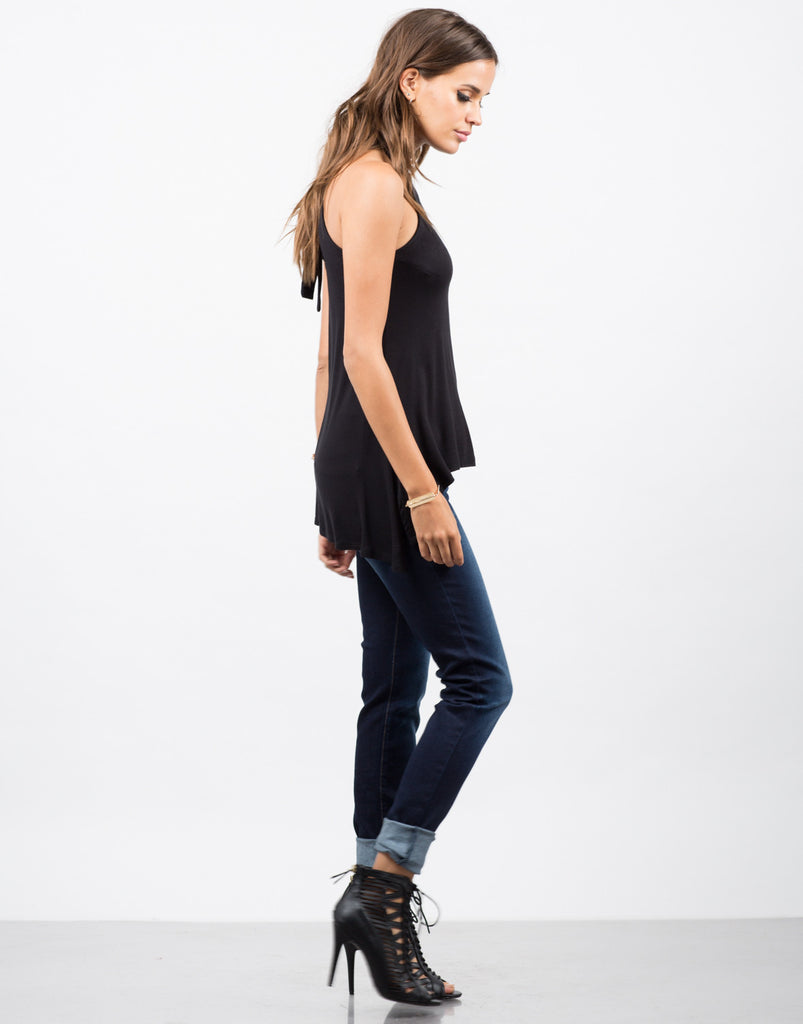 Hi-Low High Neck Top - 2020AVE