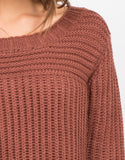 Detail of Hi-Low Knit Sweater