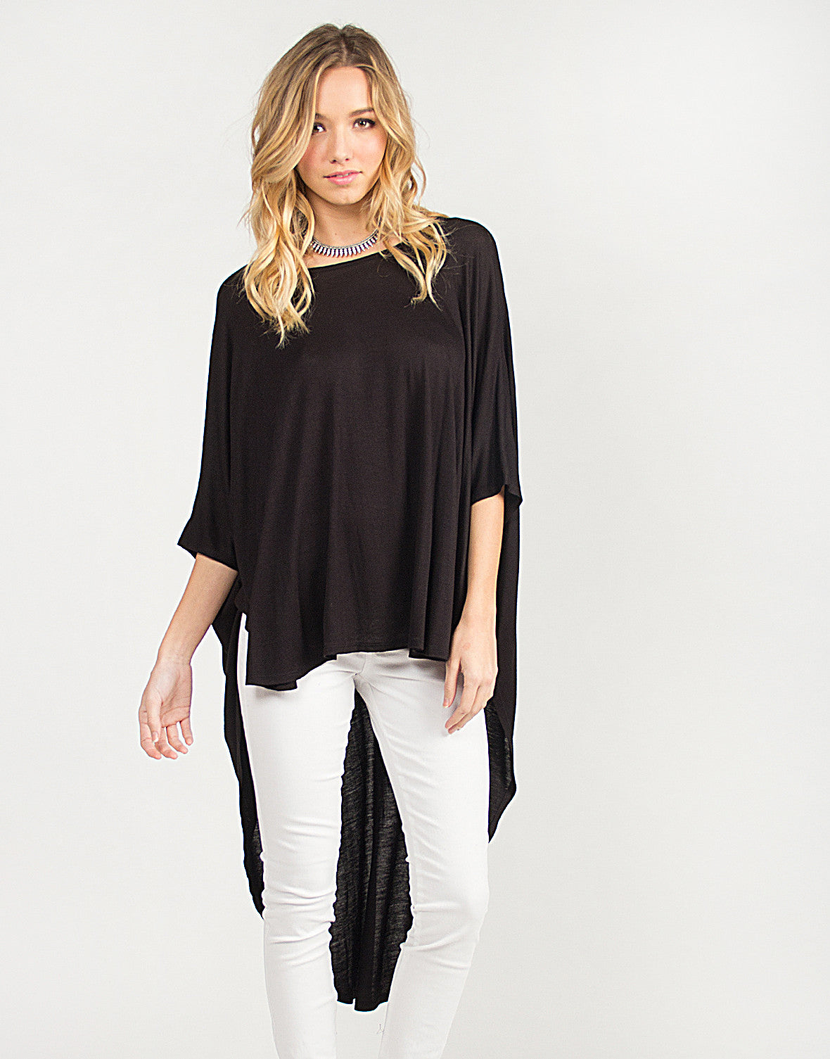 Hi-Low Oversized Batwing Top