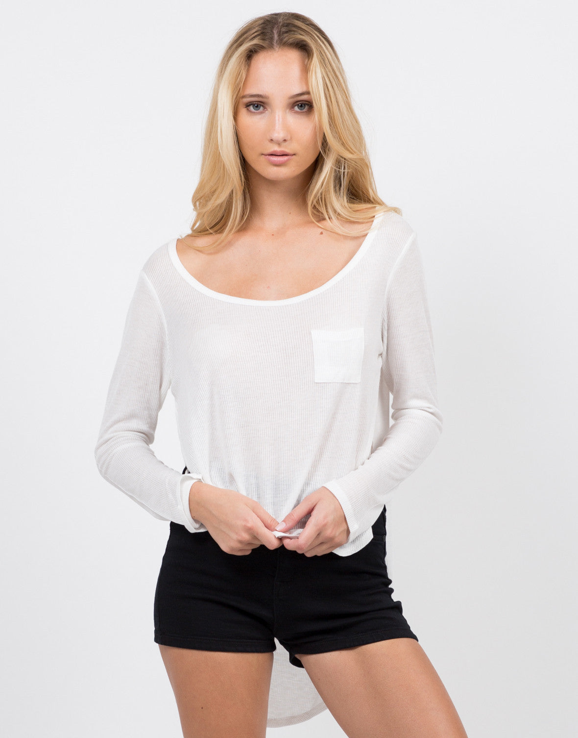 Hi-Low Ribbed Top - 2020AVE