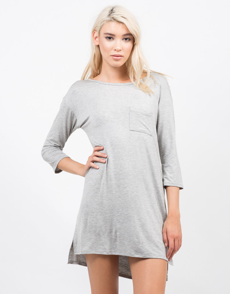 Hi Low Simple Pocket Dress - 2020AVE