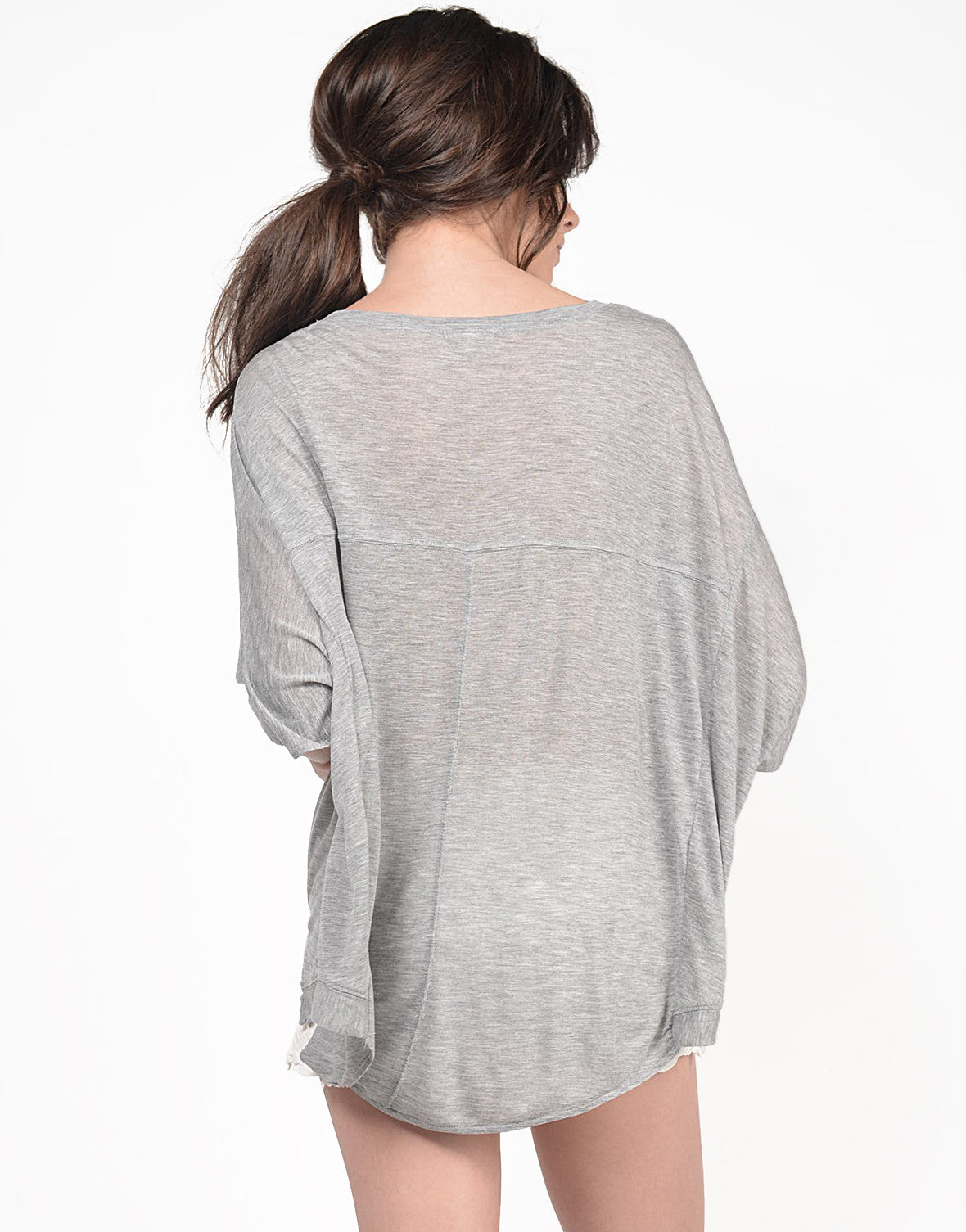 Back View of Hi-Low Soft Tee