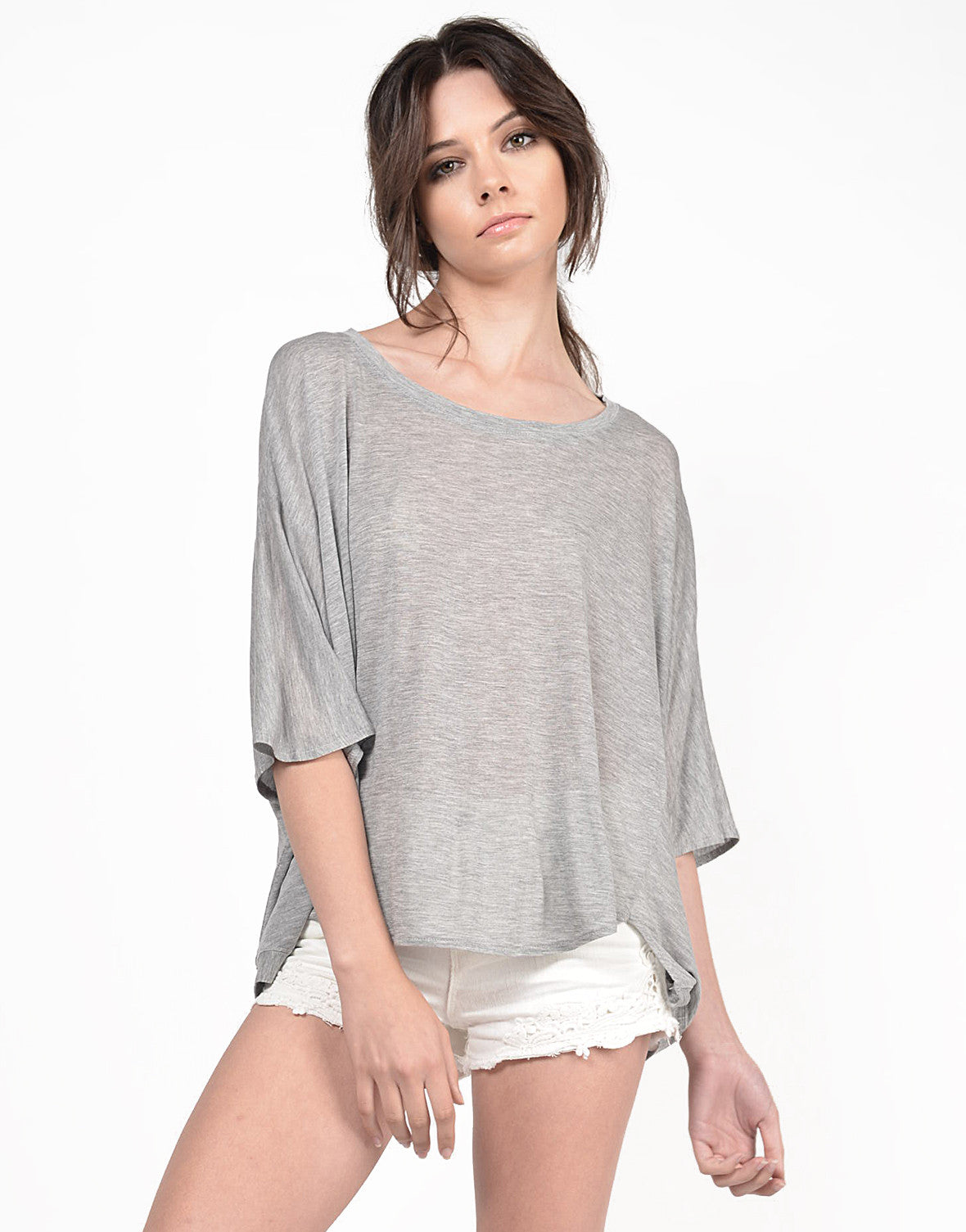 Front View of Hi-Low Soft Tee