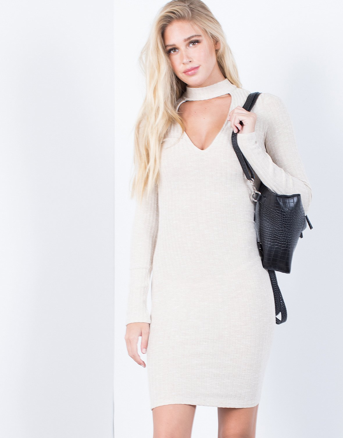 1e165a943926 Hold Tight Sweater Dress - 2020AVE ...