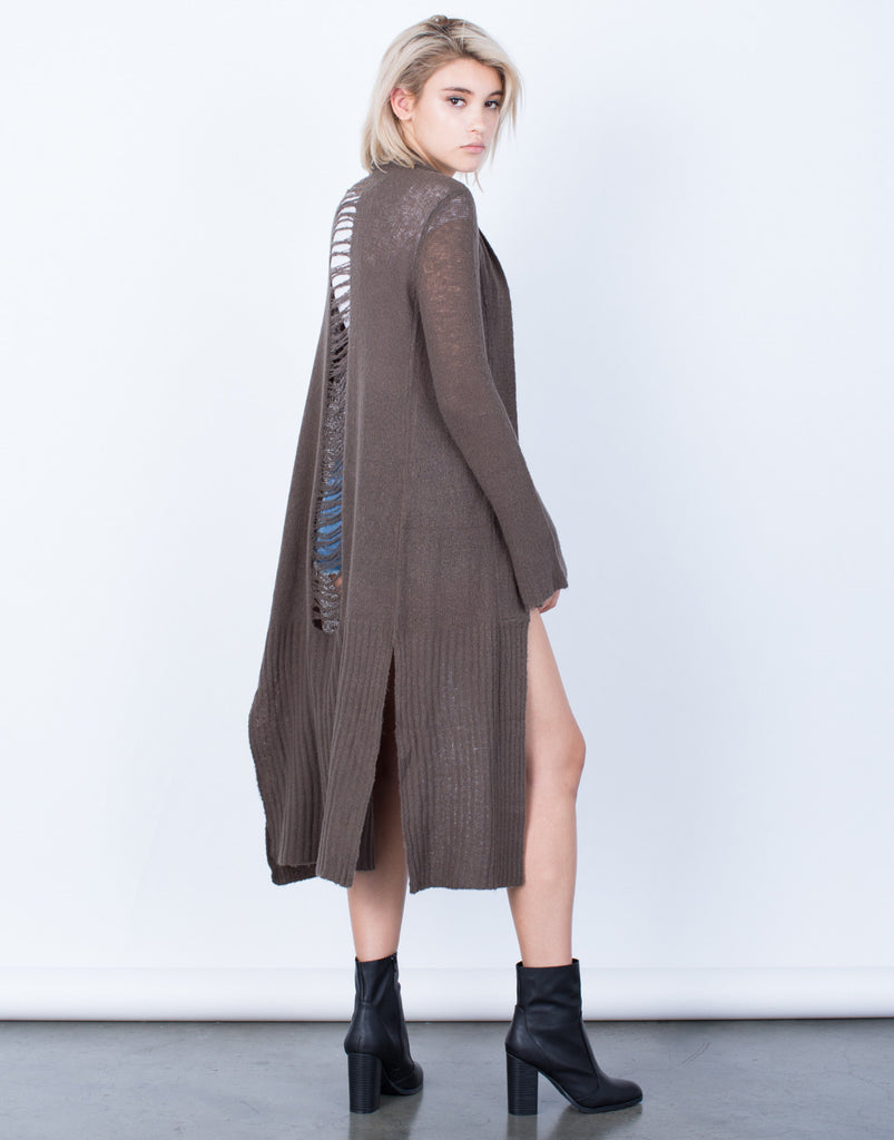 Holey Cut Out Cardigan - 2020AVE
