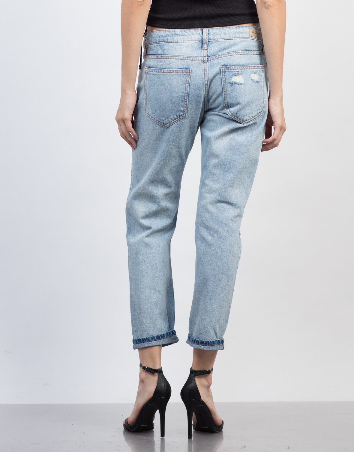 Holey Distressed BF Jeans - 2020AVE