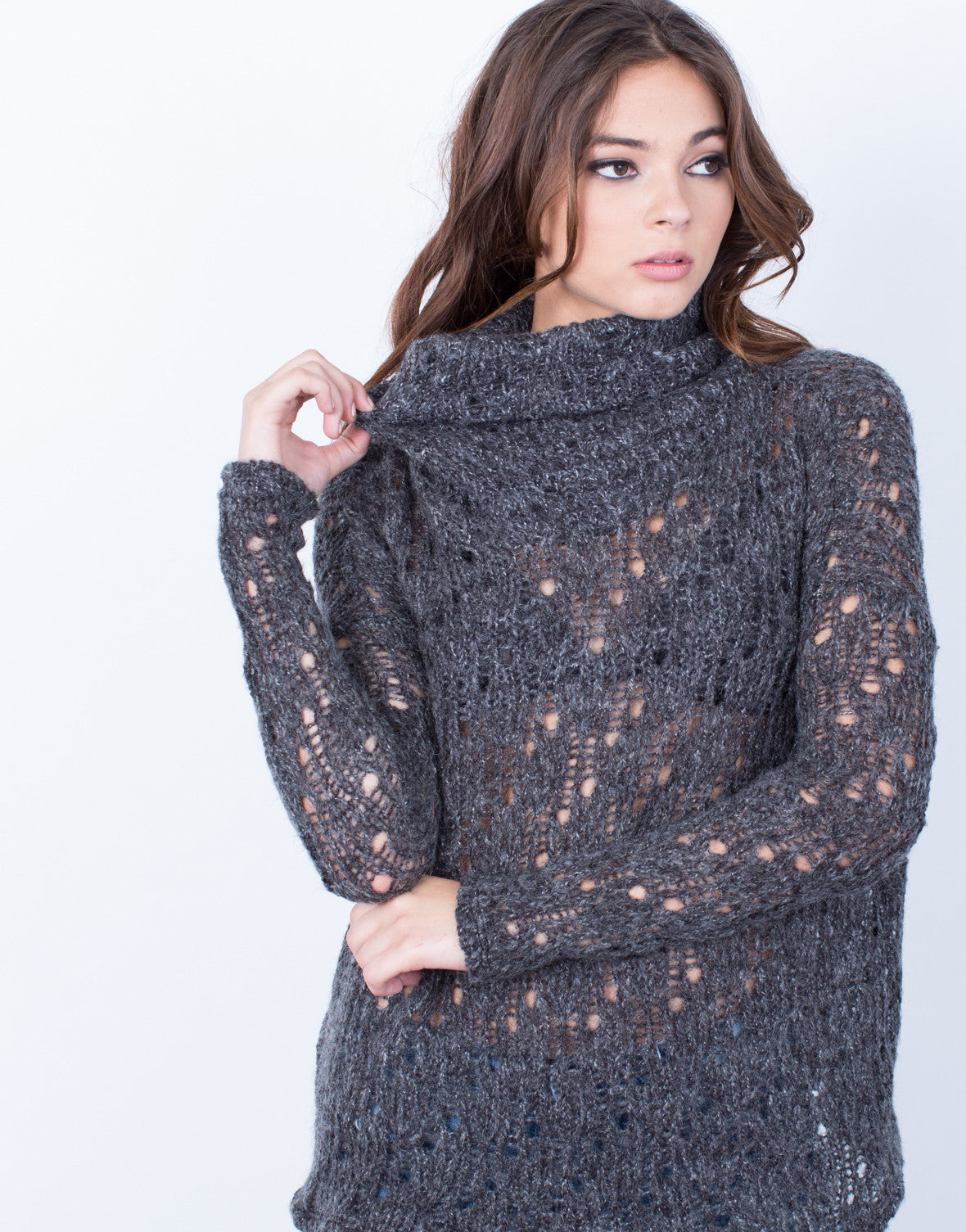 Detail of Holey Wool Sweater
