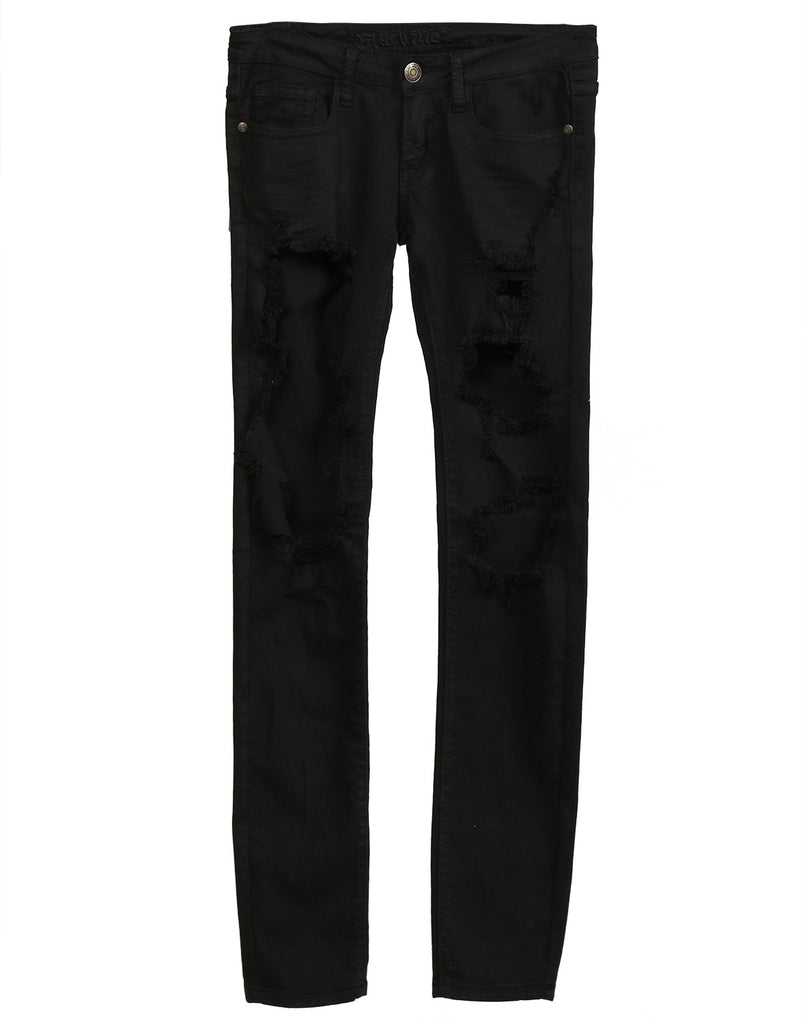 Holey Black Skinny Jeans - 2020AVE