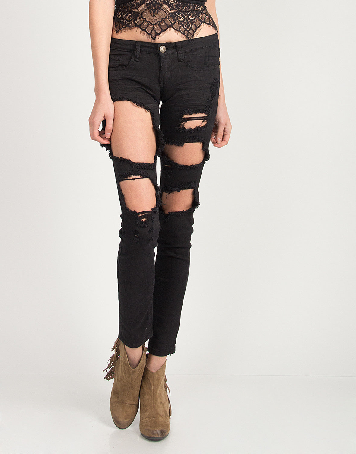 Holey Black Skinny Jeans
