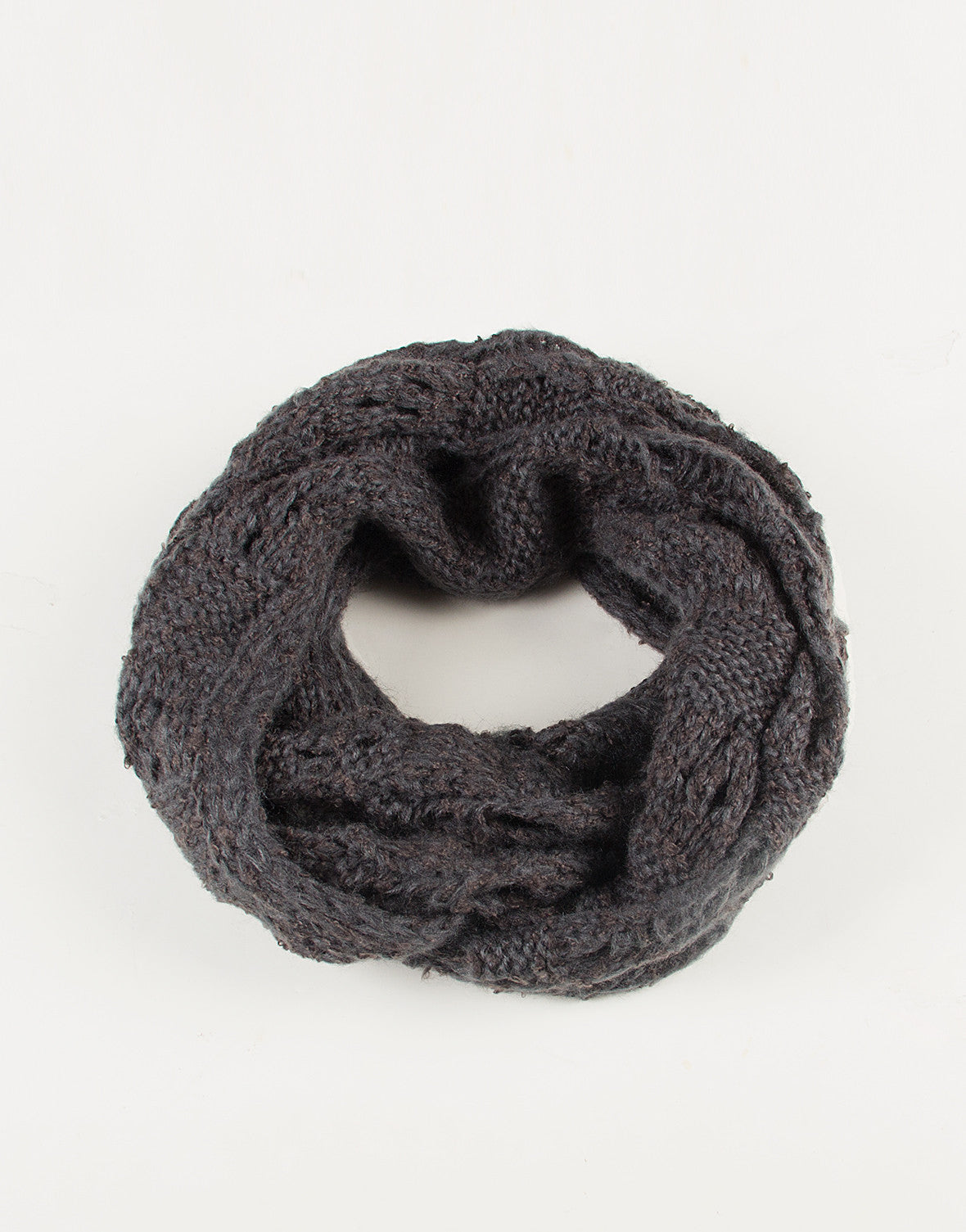 Holey Knit Infinity Scarf - Dusty Blue - 2020AVE