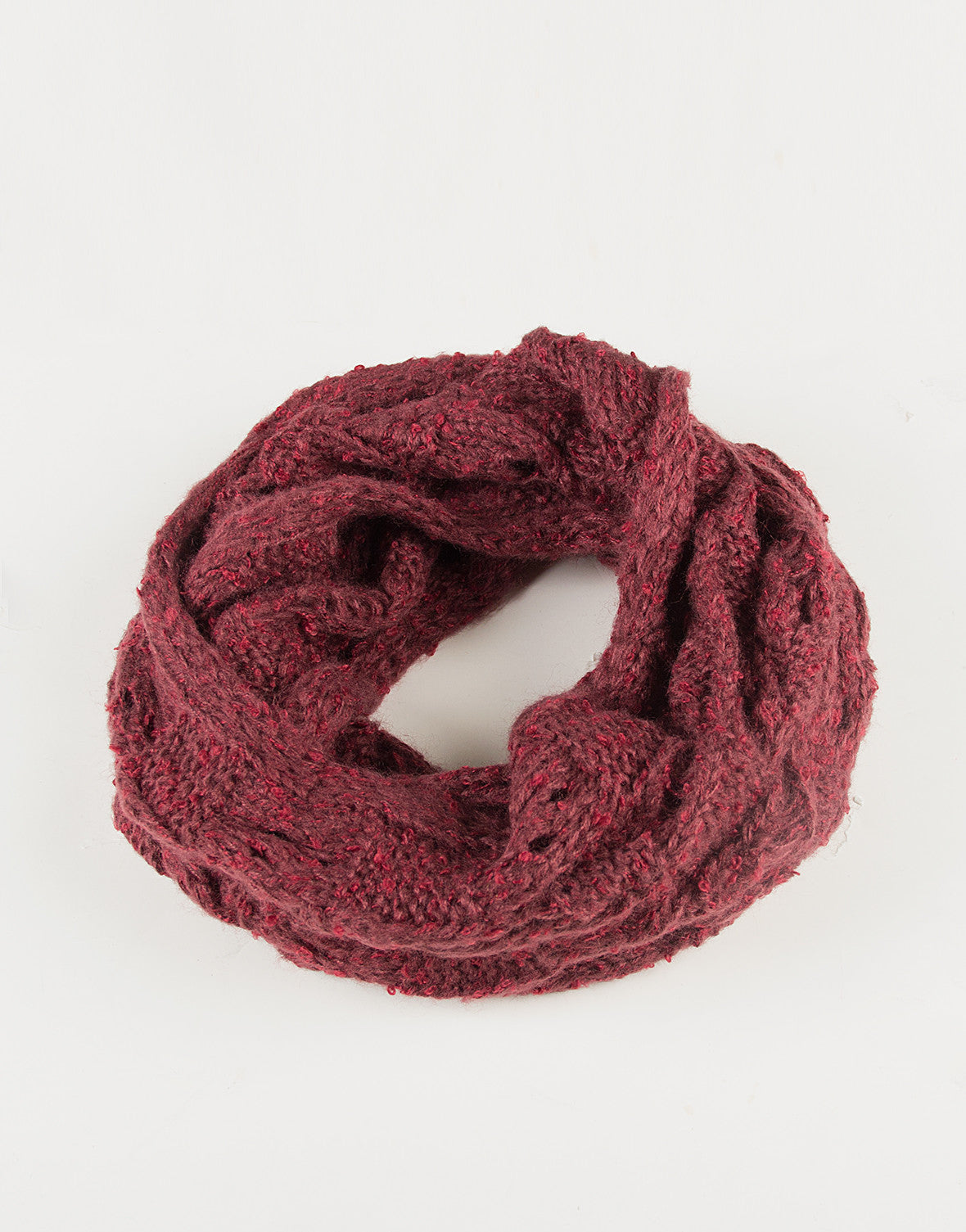 Holey Knit Infinity Scarf - Plum - 2020AVE