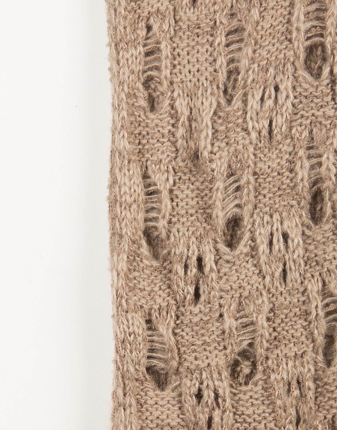 Holey Knit Infinity Scarf - Taupe - 2020AVE