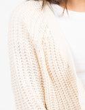 Detail of Holey Sleeves Knitted Cardigan
