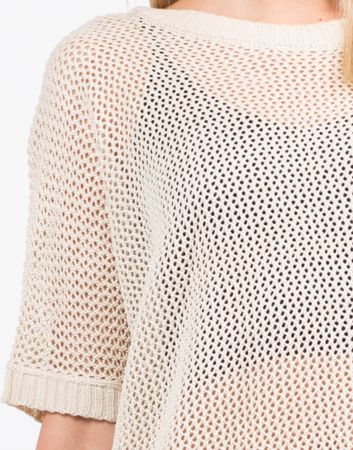 Detail of Honeycomb Knit Top