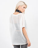 Back View of Honeycomb Knit Top