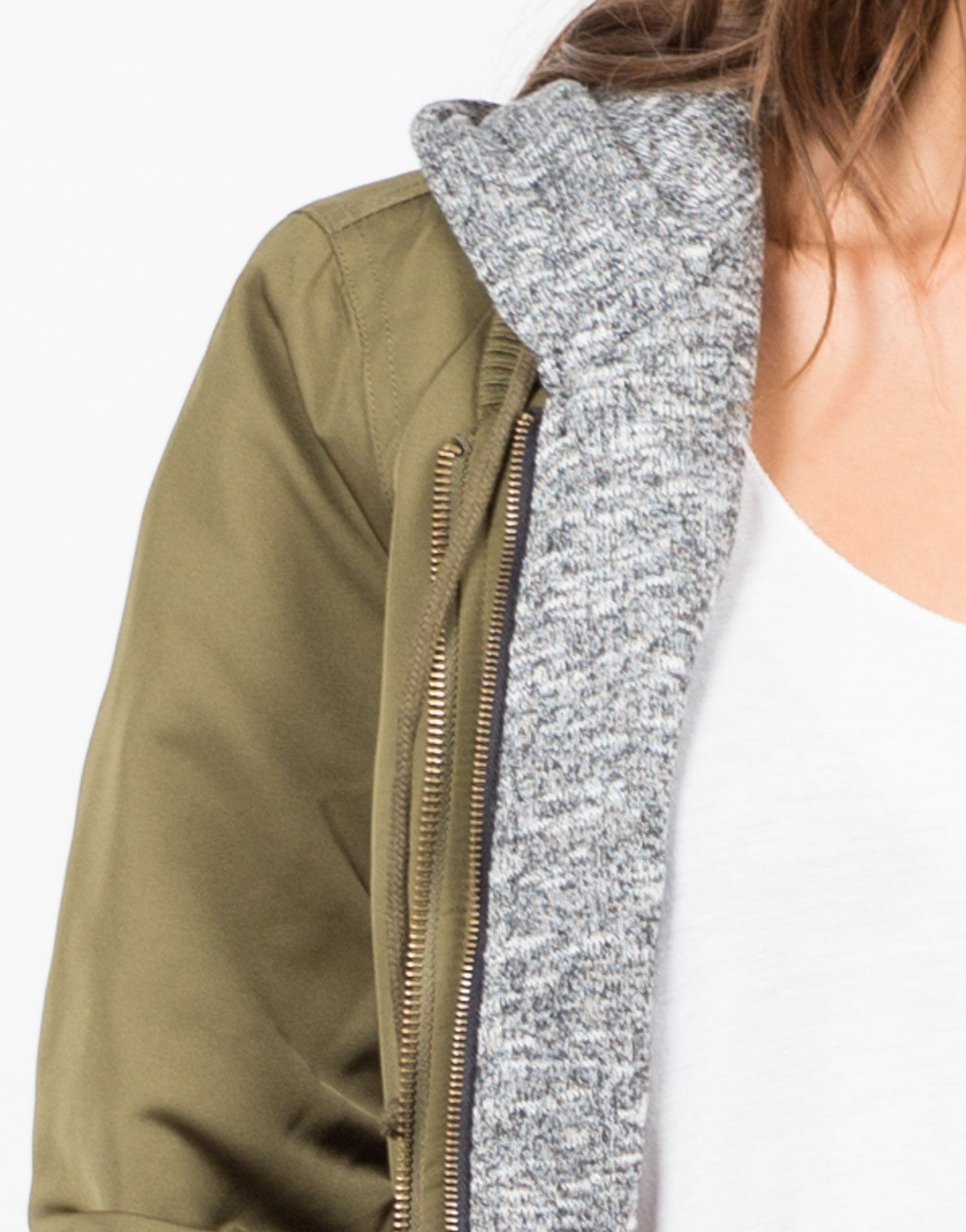 Detail of Hooded Bomber Jacket