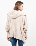 Back View of Hooded Jacket Cardigan