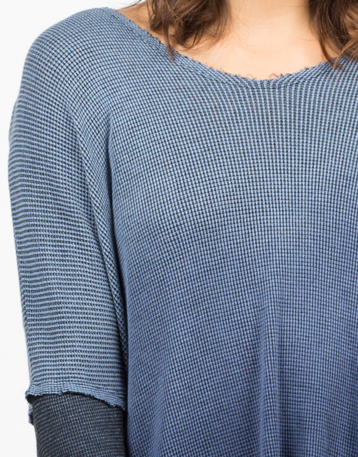 Detail of Hooded Ombre Thermal Tunic