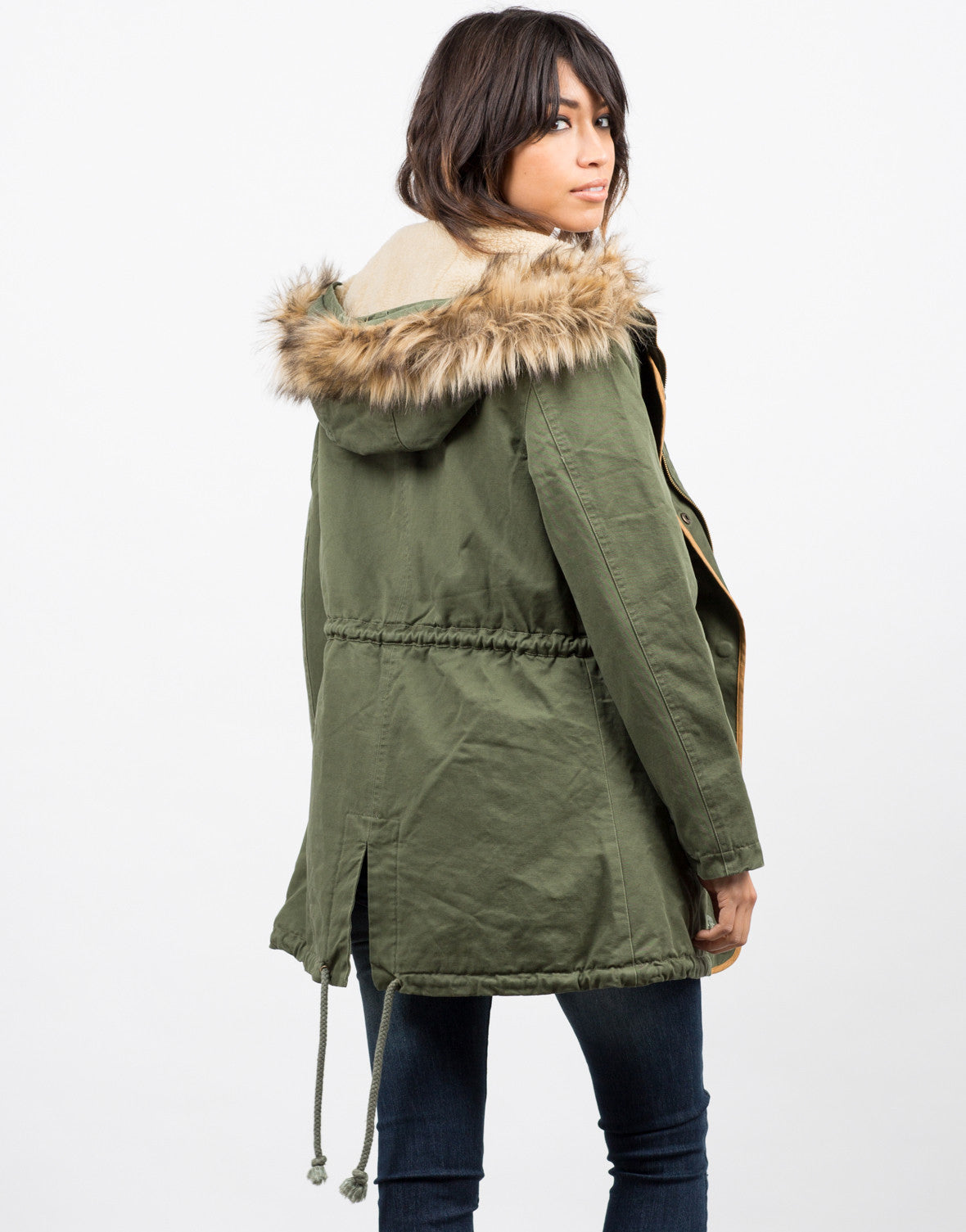 Back View of Hooded Parka