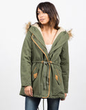 Front View of Hooded Parka
