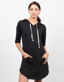 Front View of Hooded Tee Dress