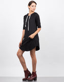 Side View of Hooded Tee Dress