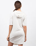 Back View of Hooded Tee Dress