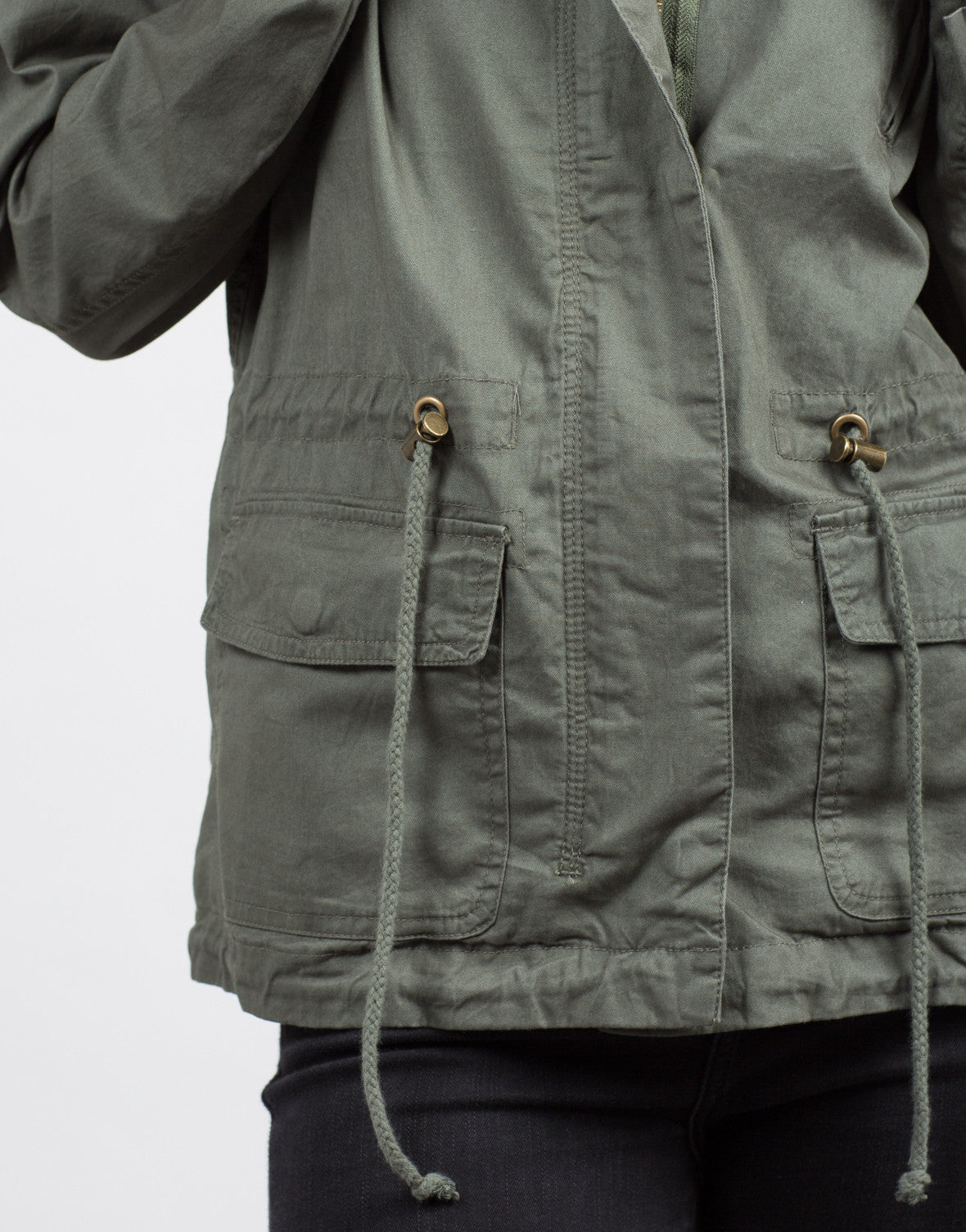 Detail of Hooded Utility Jacket