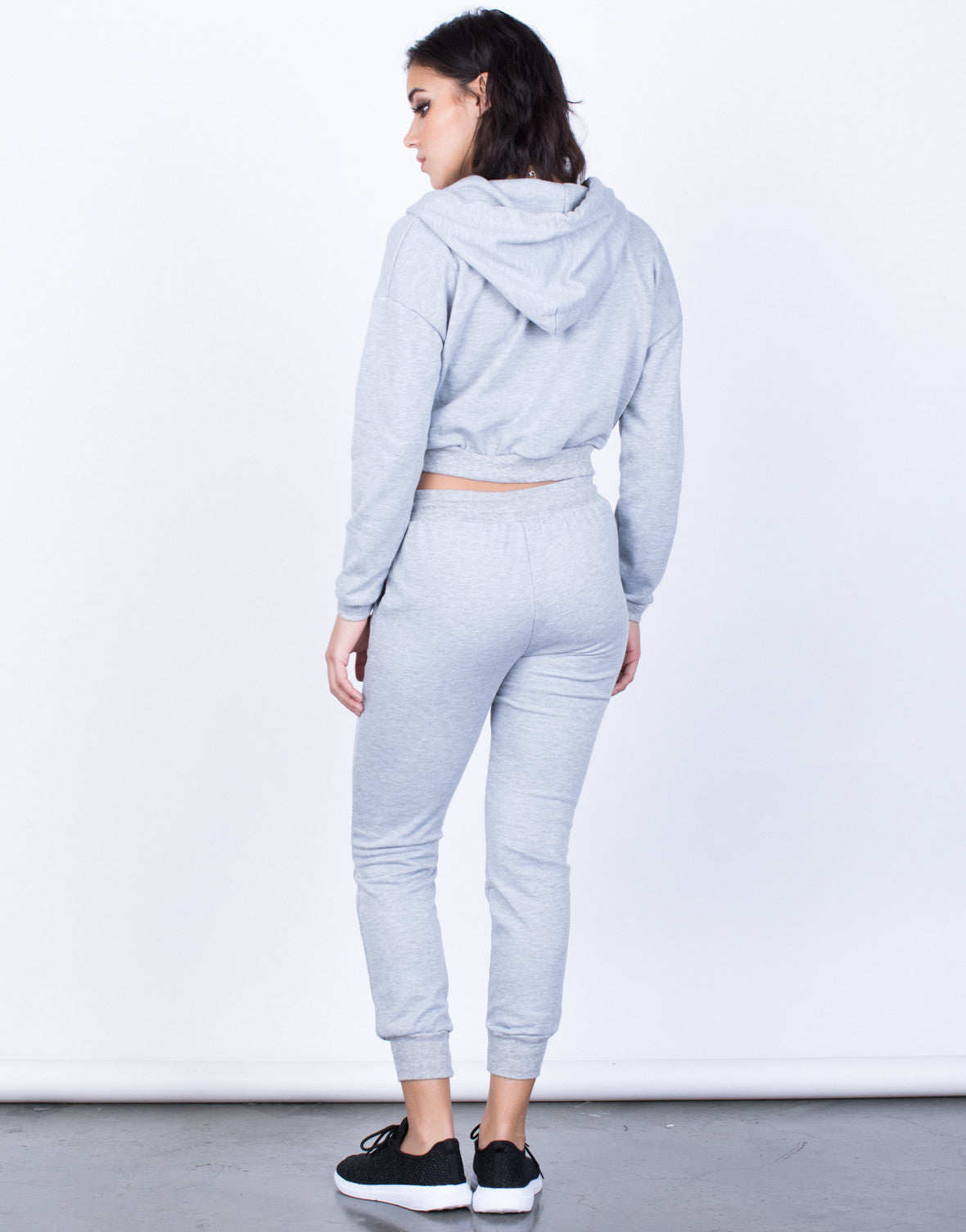 Back View of Hoodie and Destroyed Jogger Set