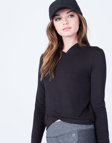 Detail of Hoodie Cropped Top