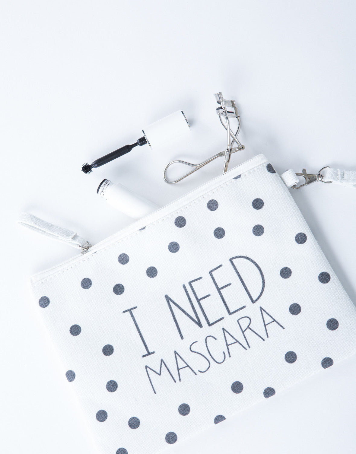 I Need Mascara Makeup Bag