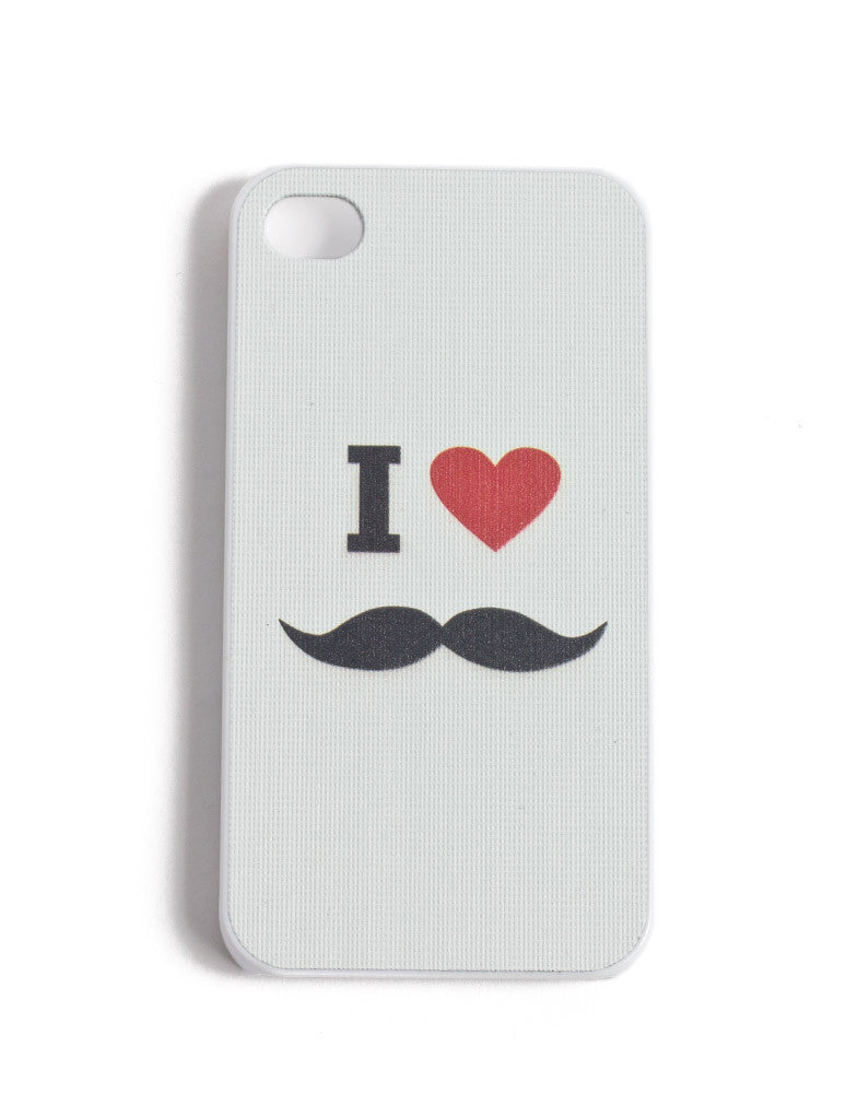 I Heart Mustache iPhone 4/4S Case