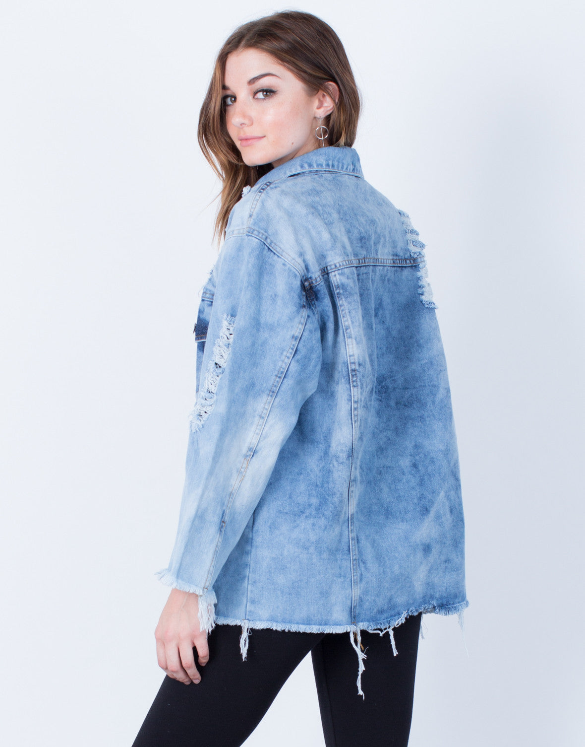 Back View of In a Daze Denim Jacket