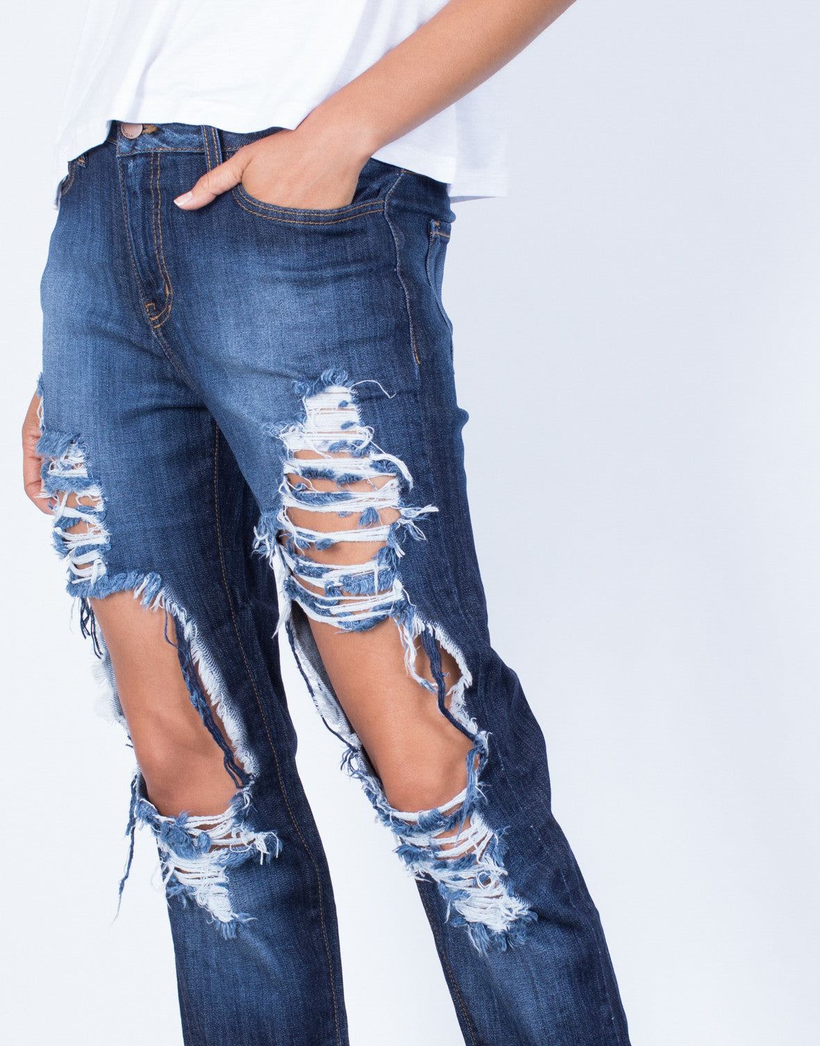 Detail of In Them Boyfriend Jeans