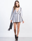 Front View of In-Between The Lines Romper