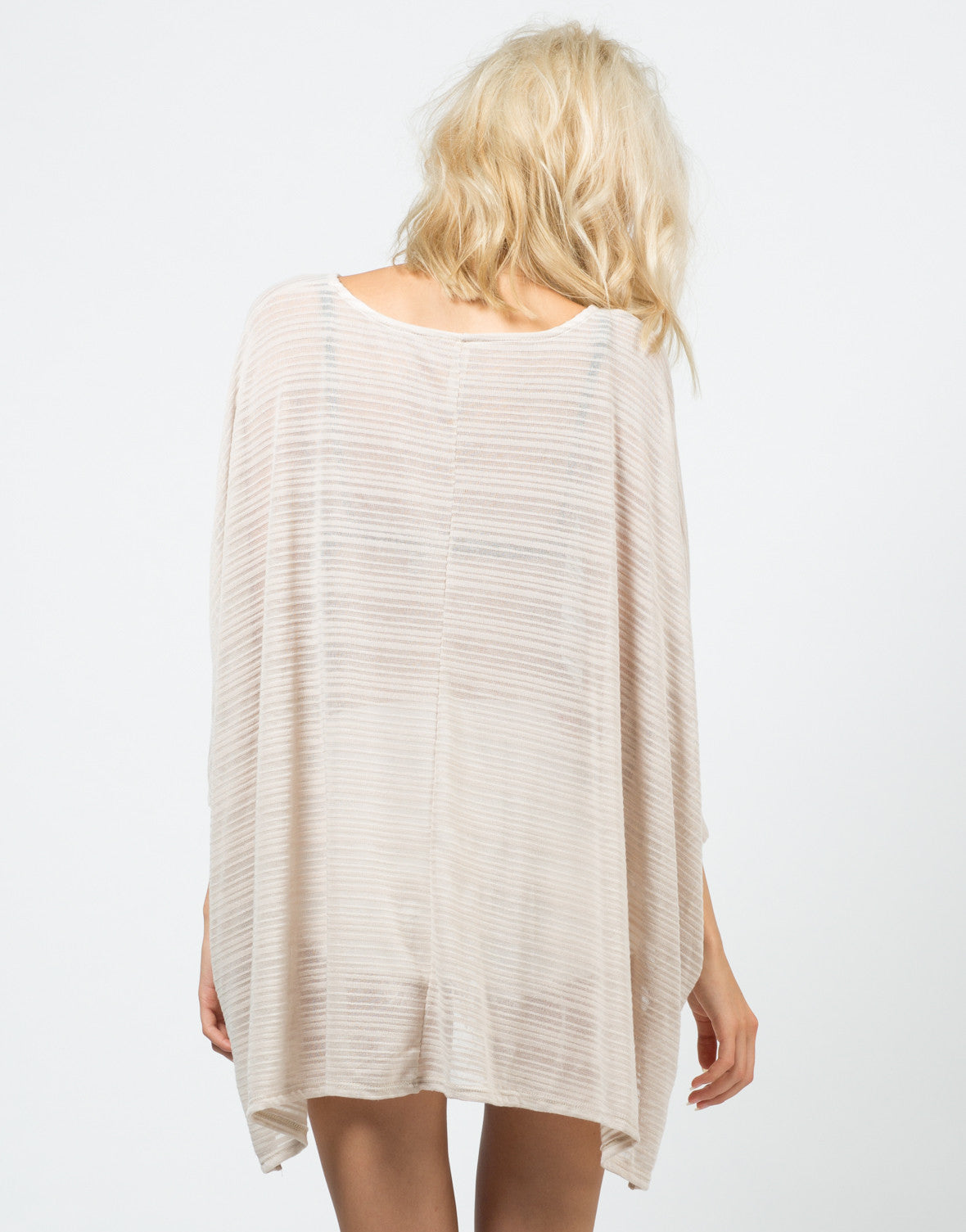 Back View of Inbetween the Lines Top