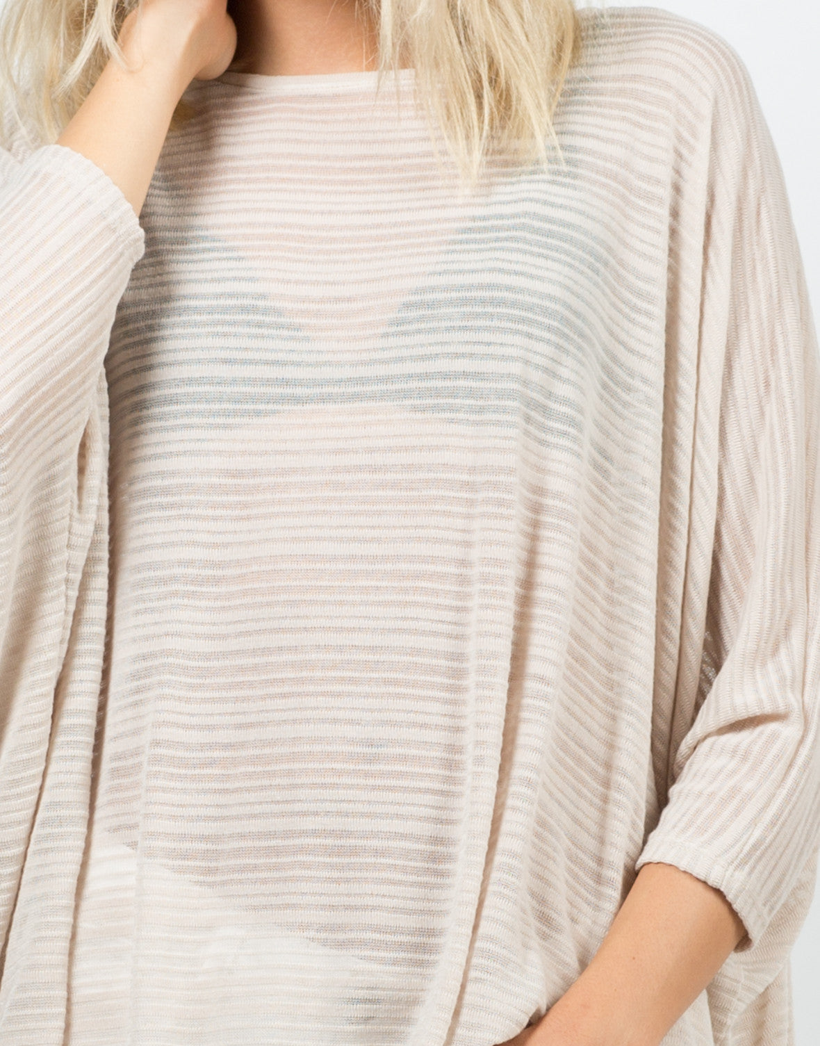 Detail of Inbetween the Lines Top