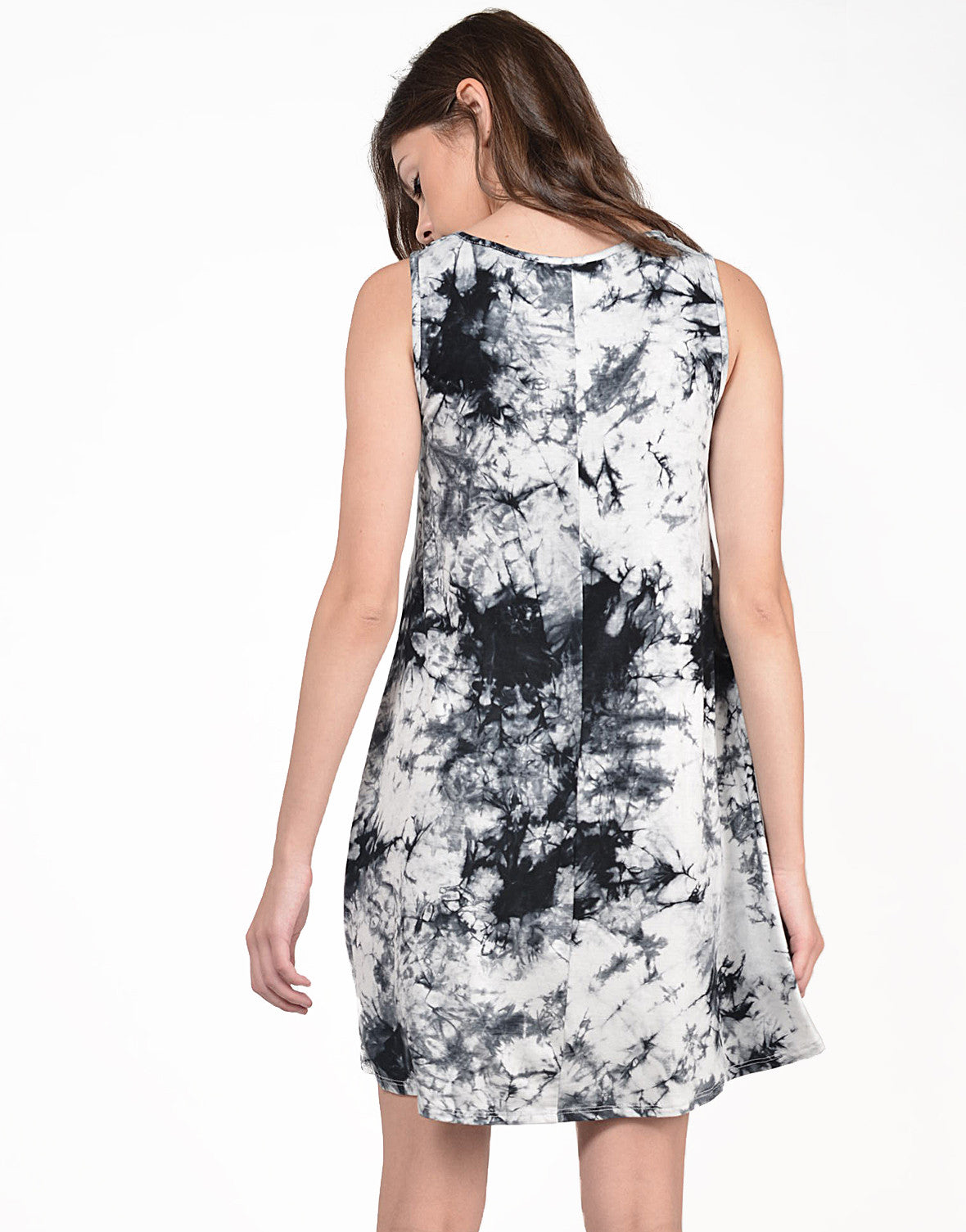 Back View of Ink Dye Tank Dress