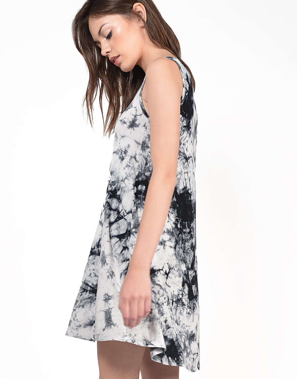 Detail of Ink Dye Tank Dress