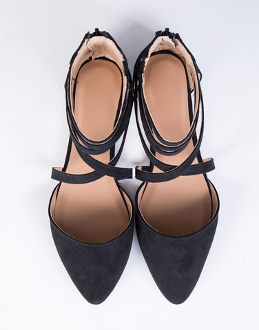 Intertwined Suede Flats