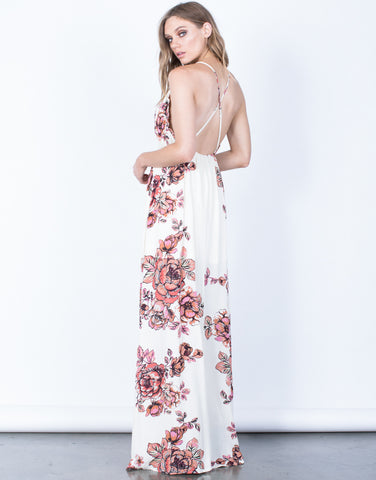 Back View of Isabel Floral Maxi Dress