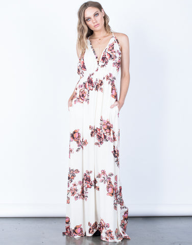 Front View of Isabel Floral Maxi Dress