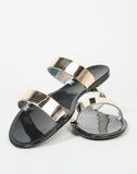 Front View of Jelly Golden Banded Sandals