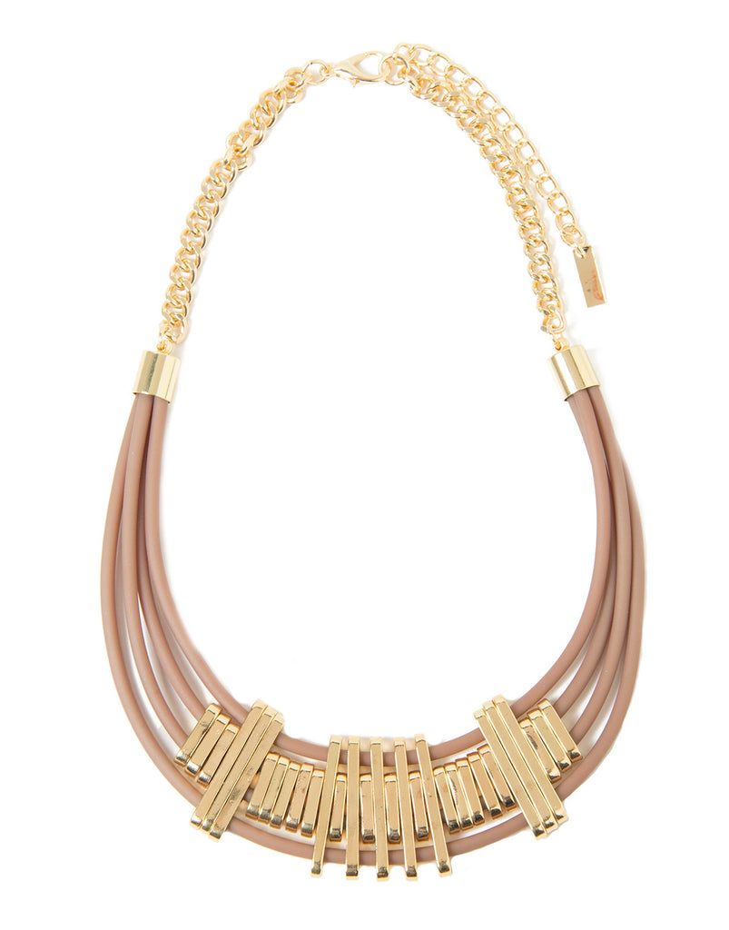 Jelly Tribal Necklace - Brown - 2020AVE