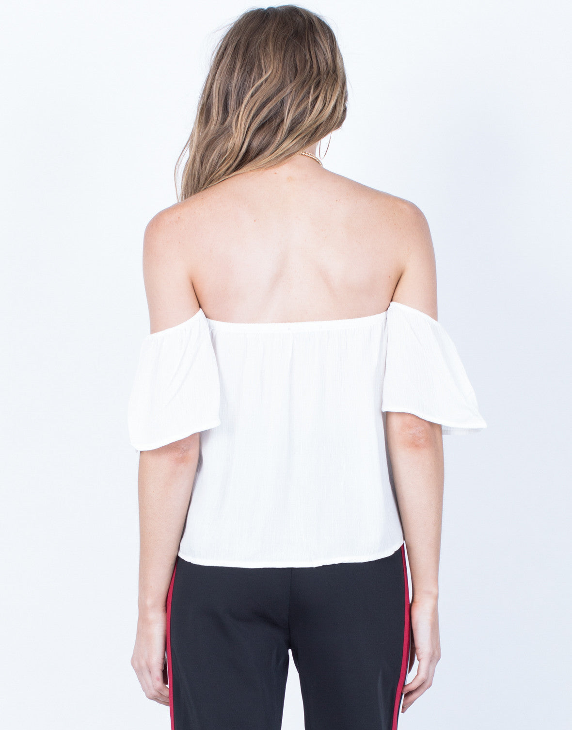 Back View of Jenna Flowy Top