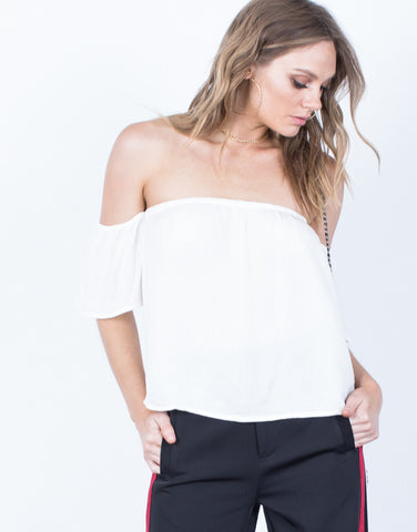 Front View of Jenna Flowy Top