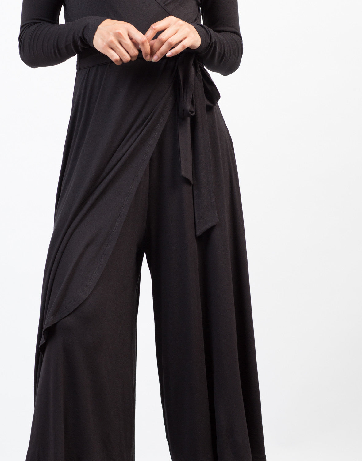 Detail of Jersey Wide Leg Jumpsuit